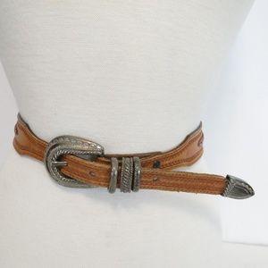 Tony Lama Women's 30 Belt 7176L Leather Brown